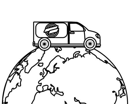 delivery service truck cartoon vector illustration graphic design Standard-Bild - 124832672