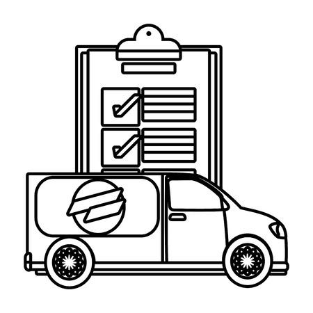 delivery service truck cartoon vector illustration graphic design Standard-Bild - 124832694