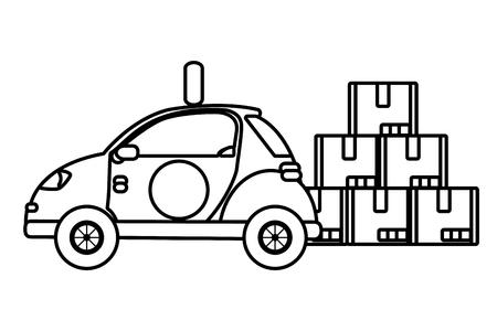 delivery service car cartoon vector illustration graphic design Standard-Bild - 124832701
