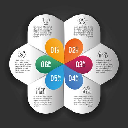 business infographic data plan information vector illustration