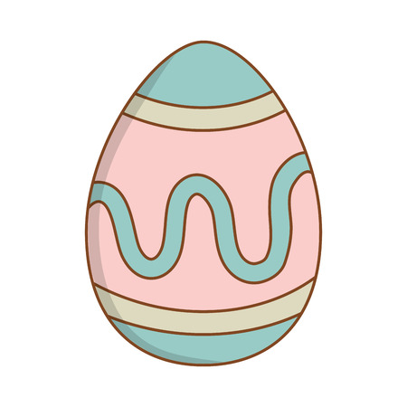 beautitul egg painted easter icon vector illustration design Çizim