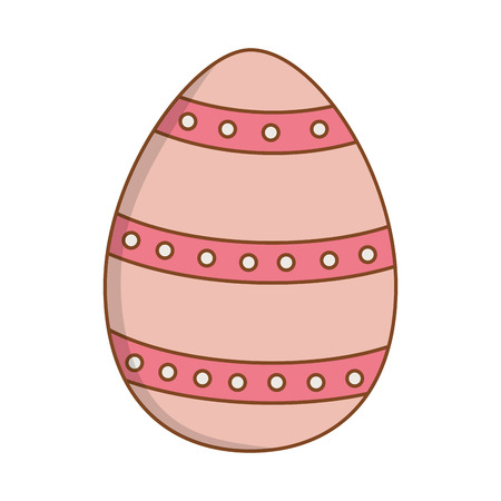 beautitul egg dotted painted easter icon vector illustration design