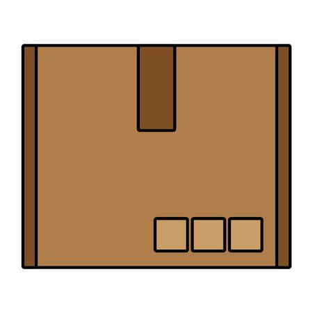 paperboard box cartoon vector illustration graphic design
