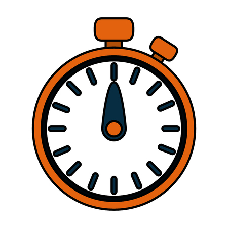 time chronometer cartoon vector illustration graphic design