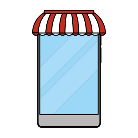 delivery service technology device shopping cartoon vector illustration graphic design
