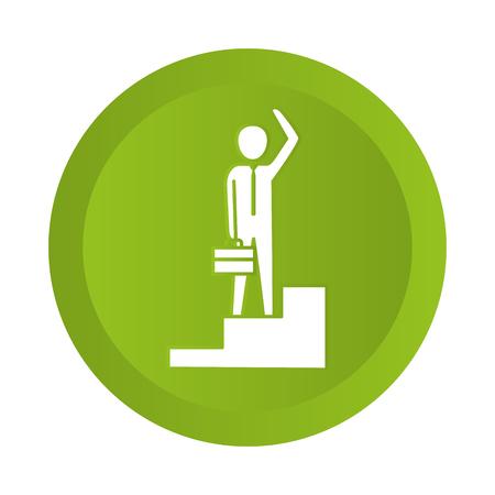 man pictogram button cartoon vector illustration graphic design