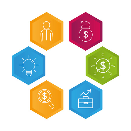 infographic layouts saving money concept cartoon vector illustration graphic design 版權商用圖片 - 124753264
