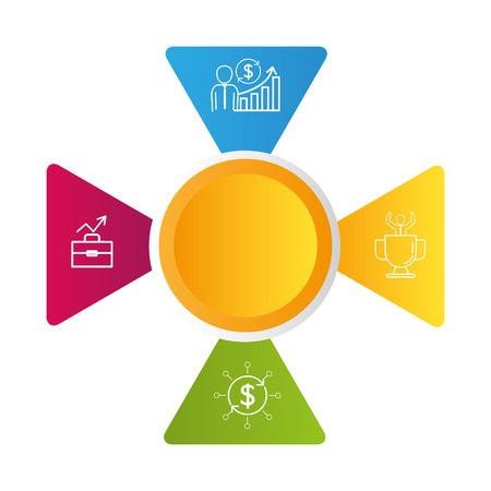 infographic layouts saving money concept cartoon vector illustration graphic design 向量圖像