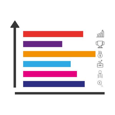 statistics graphics lines cartoon vector illustration graphic design