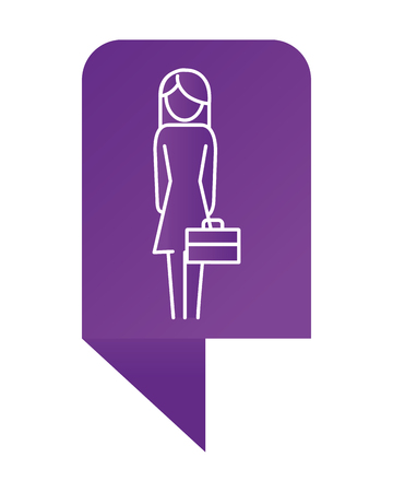 infographic layout woman pictogram holding suitcase cartoon vector illustration graphic design 版權商用圖片 - 124753317