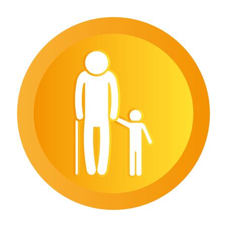 family pictogram cartoon