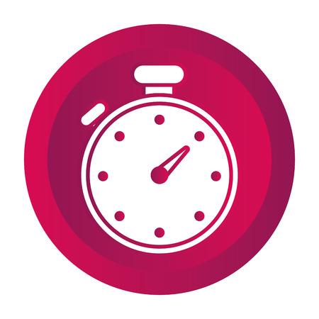 time chronometer button cartoon vector illustration graphic design Illustration