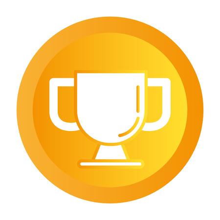 success trophy button cartoon vector illustration graphic design Reklamní fotografie - 124713600