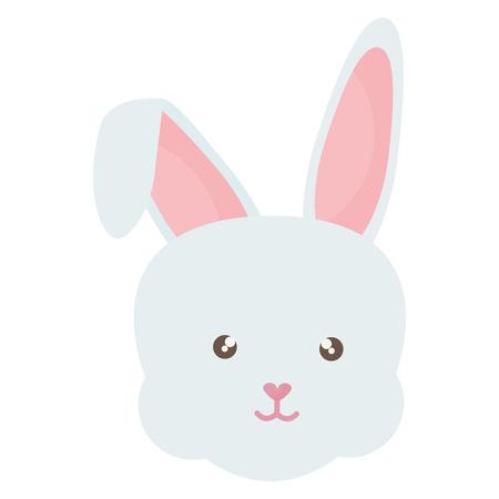 cute rabbit head character vector illustration design Reklamní fotografie - 124655234