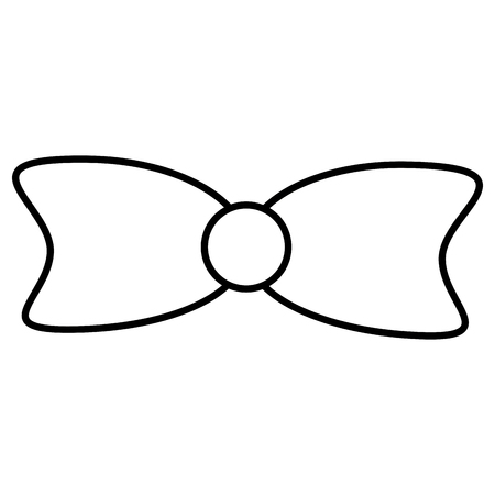 bowtie ribbon elegant icon vector illustration design