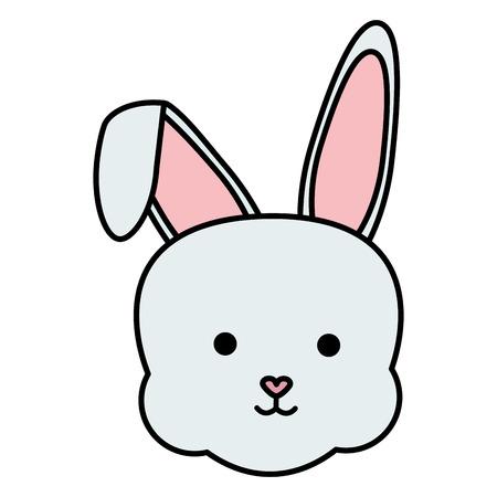 cute rabbit head character vector illustration design Иллюстрация