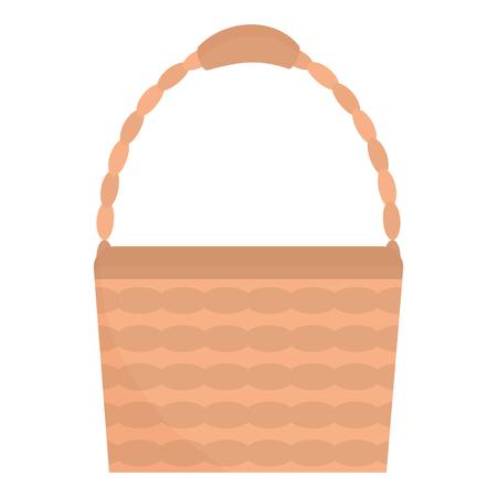 basket straw empty icon vector illustration design
