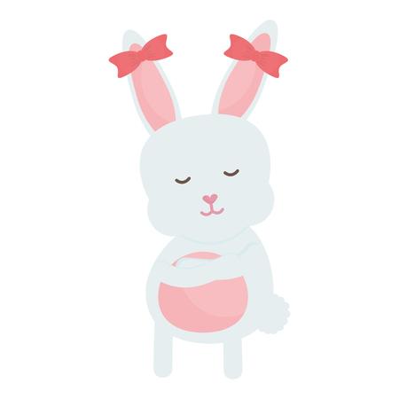 cute rabbit female character vector illustration design Reklamní fotografie - 124655274
