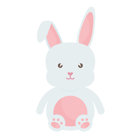 cute rabbit character icon vector illustration design Ilustrace