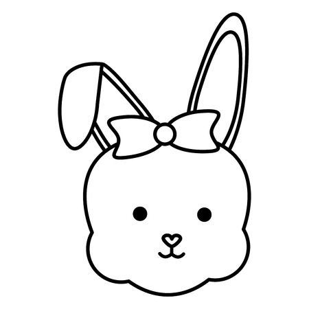 cute rabbit female head character vector illustration design Reklamní fotografie - 124655289
