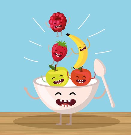 happy apples with strawberry and blackberry cup
