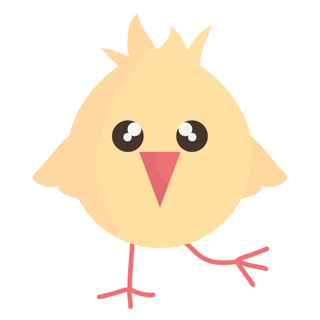 little chick cute, bunny character vector illustration design