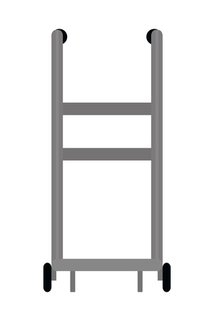 delivery handtruck pushcart icon isolated vector illustration graphic design