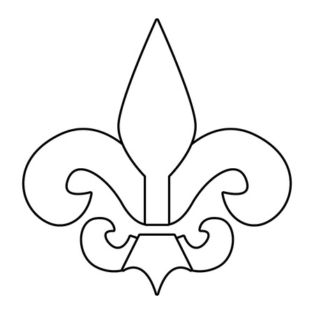 fleur de lis ccartoon vector illustration graphic design