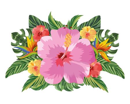 nature flowers cartoon vector illustration graphic design Vektorové ilustrace