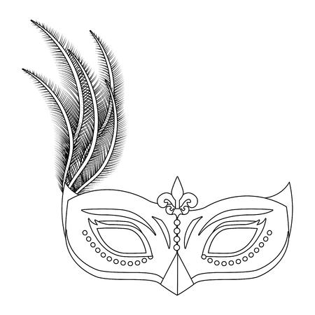 carnival mask cartoon Ilustração