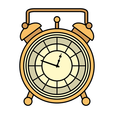 color luxury desk clock object design vector illustration