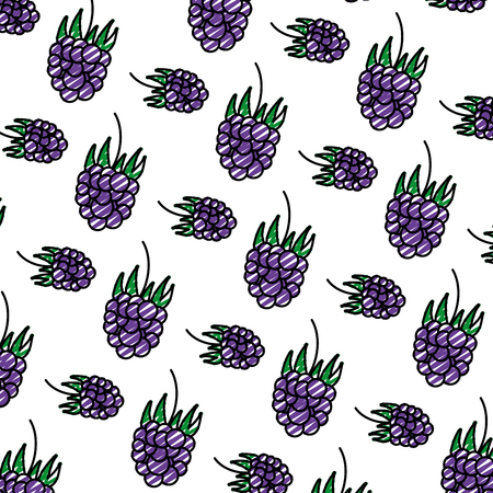 doodle delicious grapes fresh fruit background vector illustration Ilustrace
