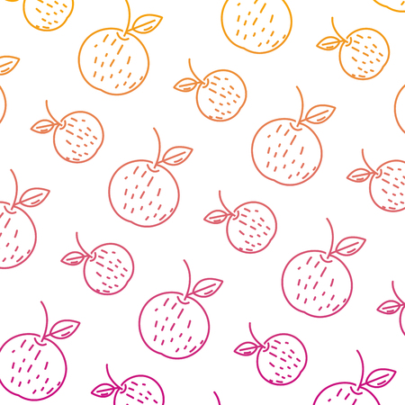 degraded line delicious orange fresh fruit background vector illustration