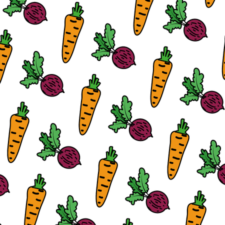 color healthy carrot and onion vegetable background vector illustration Vecteurs