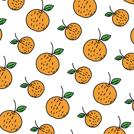 color delicious orange fresh fruit background vector illustration