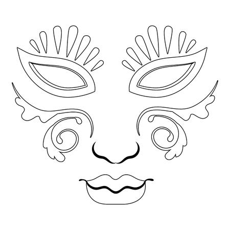 mask mardi gras isolated vector illustration graphic design
