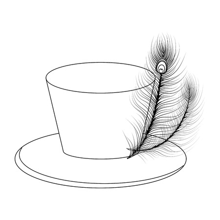 top hat icon isolated vector illustration graphic design Illustration