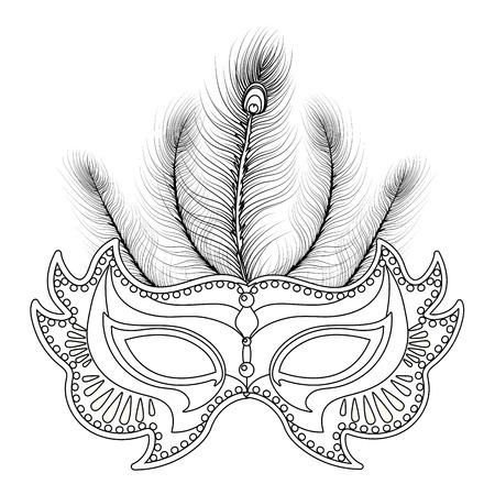 mask mardi gras isolated vector illustration graphic design Ilustración de vector