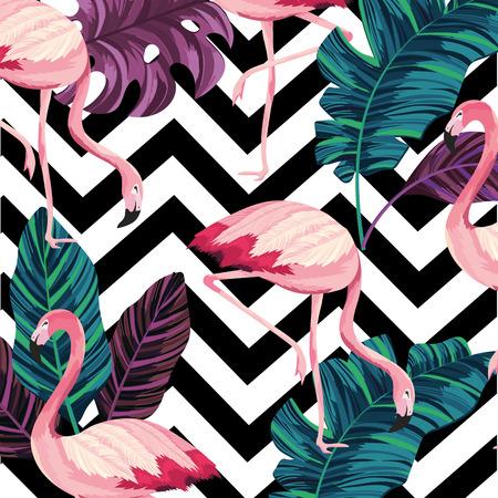 leaves with flemish and geometrick figures background vector illustration Vektorgrafik