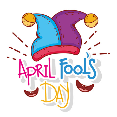 jester hat with smiles to april fool day vector illustration Иллюстрация