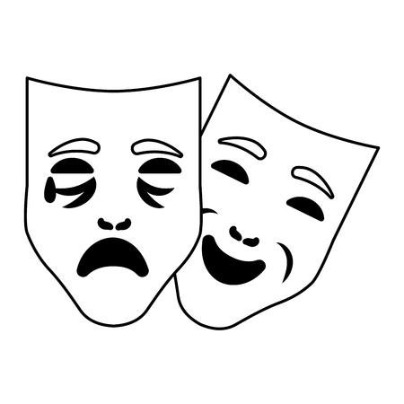 carnival masks cartoon vector illustration graphic design