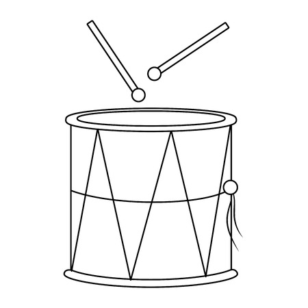 music instrument drummer cartoon vector illustration graphic design