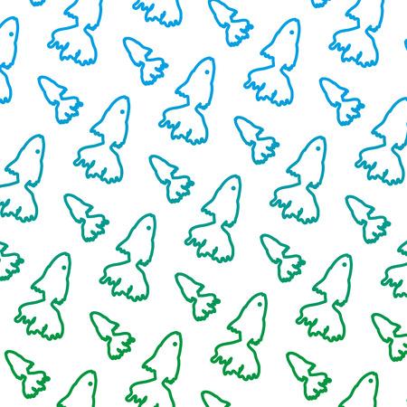 degraded line tropical ballerina fish animal background vector illustration