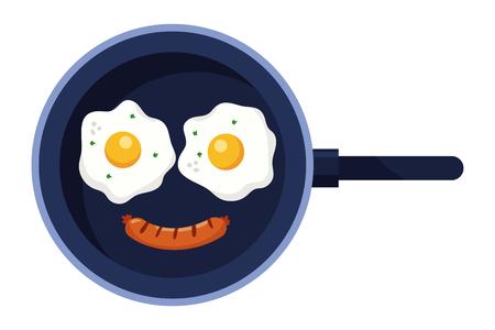 Delicious tasty breakfast cartoon 矢量图像