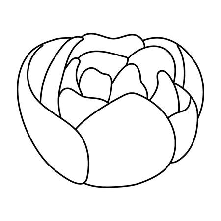dibujos animados florales tropicales Ilustración de vector