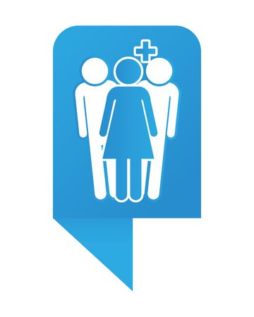 Couple pictogram cartoon