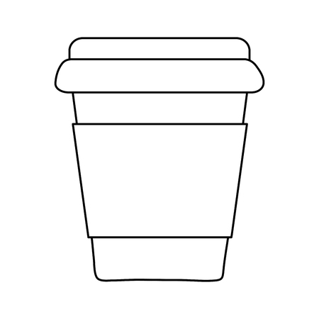 Coffee drink in plastic container