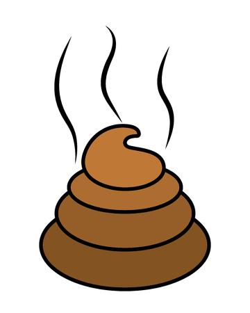 Poop icon cartoon Çizim