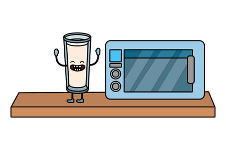 Delicious tasty milk cartoon Ilustração