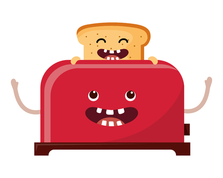 Bread toaster cartoon